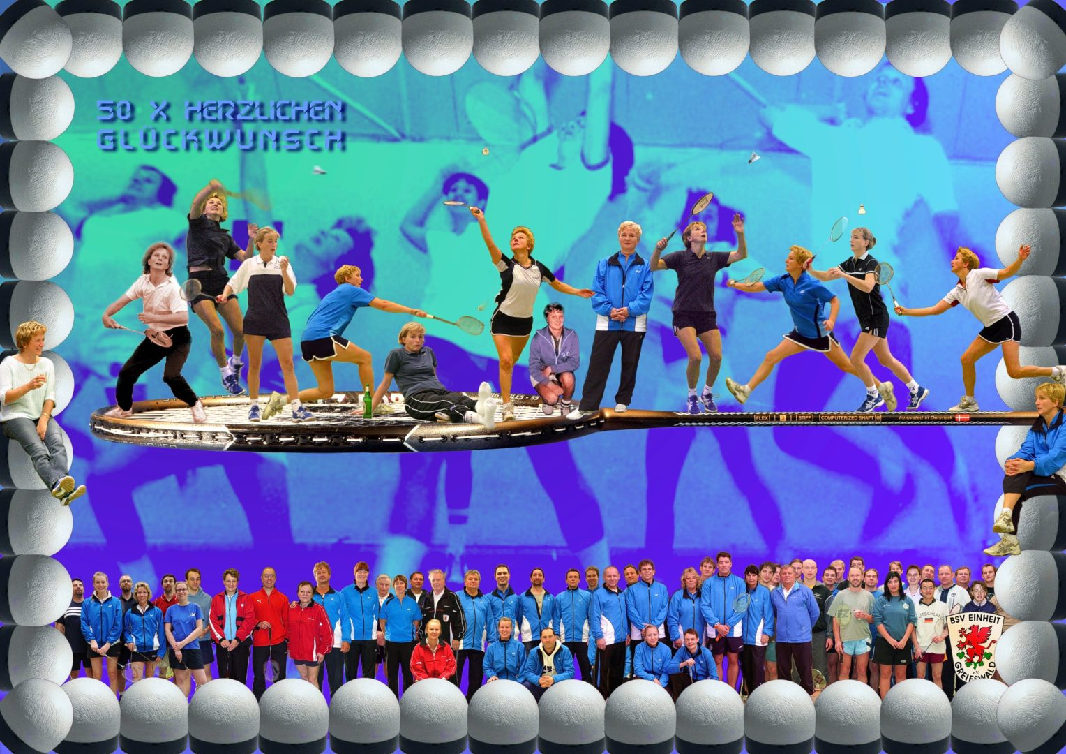 Petra Teichmann 50 Geburtstag BSV-Poster 2012